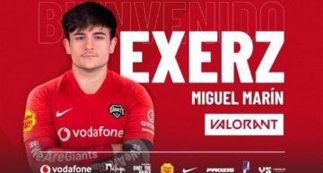 Miguel 'exerZ' Marín, nuevo fichaje del roster de Valorant de Vodafone Giants