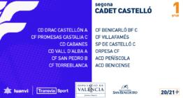 Estos son los cuatro grupos de Segunda Cadete FFCV 2020-2021 en la provincia de Castellón