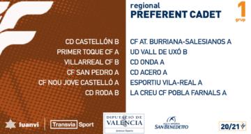 Liga Preferente Cadete 2020-2021: grupos y calendarios de competición