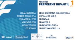 Liga Preferente Infantil 2020-2021: grupos y calendarios de competición