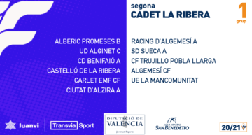 Las Ligas Cadetes e Infantiles FFCV de La Ribera 2020-2021 ya tienes sus grupos definidos