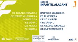 La Segunda Regional Infantil de Alicante ya tiene configurados sus grupos 20-21