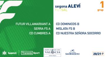 Los calendarios de fútbol sala base FFCV 20-21 ya están disponibles para su consulta