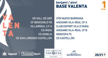 La Liga Base Valenta (Benjamín y Alevín) ya conoce sus seis grupos 20-21