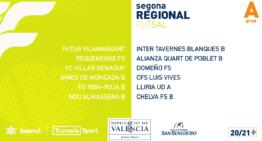 Los tres grupos de Segunda Regional de futsal ya tienen calendarios 20-21