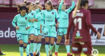 El Levante Femenino estrena temporada con remontada y victoria en Las Gaunas (1-2)
