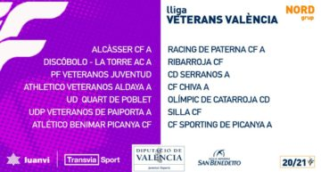 Las ligas de Veteranos FFCV también cuenta ya con calendario oficial 2020-2021