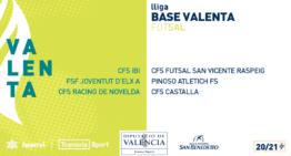 La Liga Valenta de futsal base contará con seis equipos en la temporada 20-21