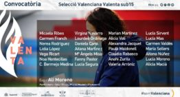 Segunda convocatoria de la Selecció Valenta Sub-15 de Ali Moreno para el jueves 3 de diciembre