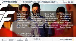 Primera convocatoria oficial 20-21 de la Selecció FFCV Sub-16 de Javi Lafora