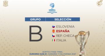 España Sub-21 se medirá a Eslovenia, República Checa e Italia en el Europeo de 2021