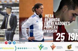 Mesa redonda de entrenadores de Primera División de fútbol sala el próximo 25 de enero