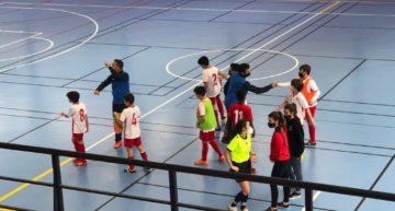 Tarjeta verde para el Alevín 'B' del Alboraya FS tras jugar cuatro contra cuatro ante La Canyada CFS