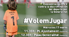 La FFCV convoca una concentración el 17 de marzo para protestar por la discriminación con las competiciones federadas