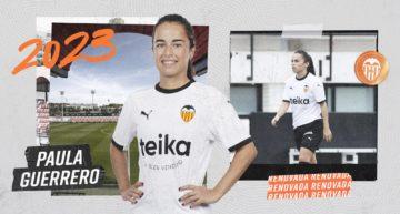 Paula Guerrero renueva con el Valencia hasta 2023