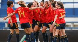 Victoria de la selección española ante las campeonas de Europa (1-0)