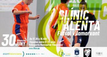 Clínic Valenta de futsal en Vilamarxant el 30 de julio