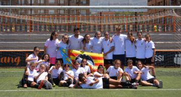 El VCF Femenino campeón de la liga infantil masculina sin perder ningún partido