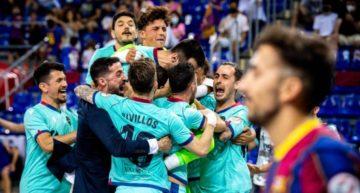 El Levante Futsal, a un partido de conquistar la Liga tras tumbar al Barça en los penaltis (2-2)