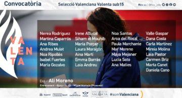 Alicia Moreno convoca 29 futbolistas para el entrenamiento de la Selecció Valenta sub15