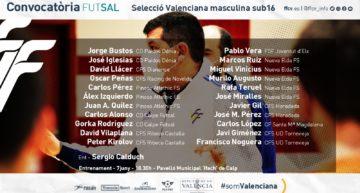 La Selecció Valenciana sub16 de futsal convoca 22 jugadores en Calpe