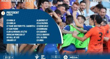 Consulta aquí los cinco grupos de Regional Preferente FFCV para la temporada 2021-2022