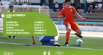 Los dos grupos de Liga Autonómica Infantil FFCV 2021-2022