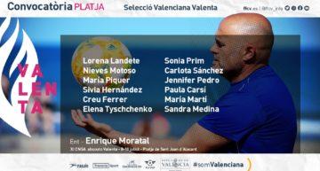 Estas son las 12 convocadas por la Selecció Valenciana Valenta asboluta de fútbol playa para el XI Campeonato de España