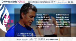Hector García convoca a estas futbolistas con la  Selecció Valenciana Valenta de fútbol playa sub19 para el Campeonato de España