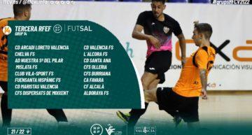 Configuración definitiva de los grupos 14 y 15 de la Tercera RFEF de futsal