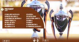 Grupos confirmados de la Liga Preferente Cadete FFCV 2021-2022
