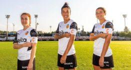 El VCF Femenino presenta a sus tres capitanas para la temporada 21/22