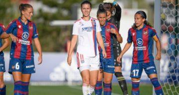 El Levante se queda fuera de la UWCL al caer ante el Lyon (2-1)
