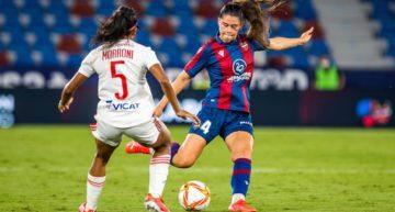 Un aguerrido Levante cae a última hora ante el Olympique de Lyon (1-2)