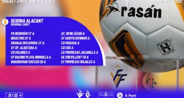 Estos son los 8 grupos de Segona Regional Cadet Alacant de la temporada 21-22