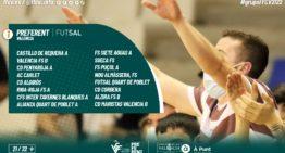La Preferent de Futsal FFCV ya tiene sus tres grupos compuestos para la 21-22
