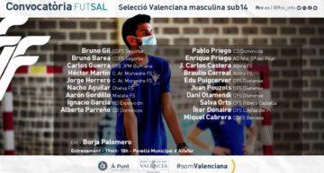Segunda convocatoria 21-22 de la Selecció Valenciana masculina Sub-14 de futsal