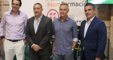 Fran Escribá y Unai Emery fueron protagonistas en la III Apertura de los Cursos de Entrenadores de la FFCV