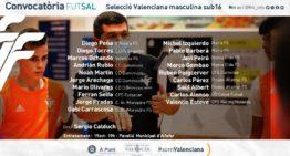 Esta es la segunda convocatoria 21-22 de la Selecció Valenciana masculina Sub-16 de futsal